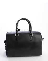 cc732dda68 ... Saint Laurent Black Leather Animal Print Convertible Top Handle Duffle  Bag