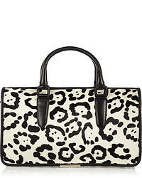 Tamara mellon diglam leopard print calf hair tote medium 51554