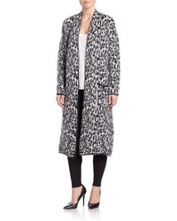 Essentiel antwerp long leopard print cardigan medium 426671