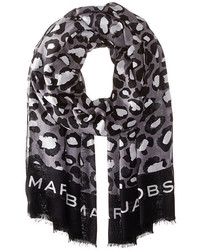 Marc by Marc Jacobs Painted Leopard Scarf