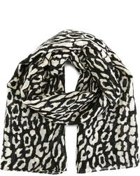 Saint Laurent Animal Print Scarf