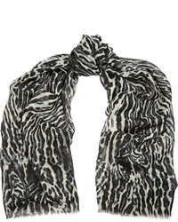 Maje Sold Out Leopard Print Wool Scarf