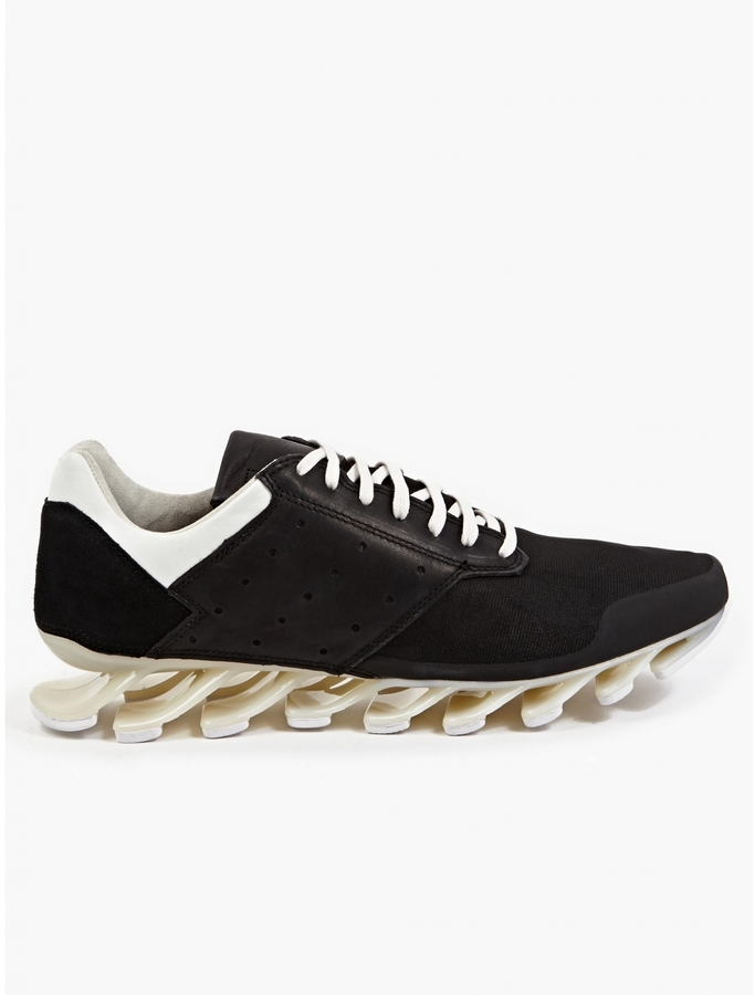 finest selection 67750 cdb6f $670, Rick Owens Adidas By Black And White Springblade Low Sneakers