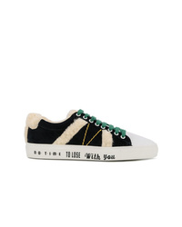 Mira Mikati Lace Up Fluzzy Sneakers