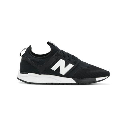 new balance blanco con negro
