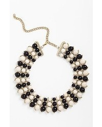 Guinevere Macion Necklace Black White