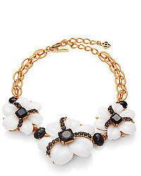 Oscar de la Renta Jewel Cabochon Flower Necklace