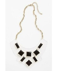 Panacea Clear Plate Necklace Black White