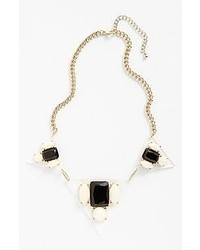 Panacea Pyramid Necklace Black White