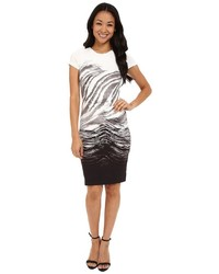 Ombre graphic sheath dress medium 1253167
