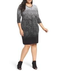 Vince Camuto Plus Size Ombre Jacquard Sweater Dress
