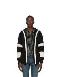 Saint Laurent Black Baja Hooded Sweater