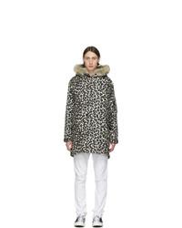 Wacko Maria Black And Brown Leopard Mods Jacket