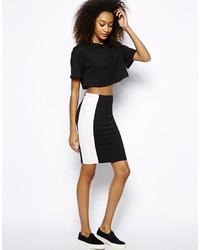 Vero Moda Contrast Panel Pencil Skirt