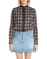 Marc Jacobs Patchwork Plaid Blouse