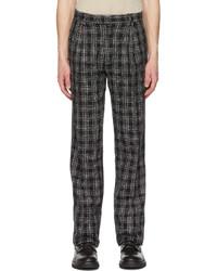 Amiri Black White Boucl Single Pleat Trousers
