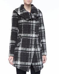 Amelia plaid boucle coat medium 100673