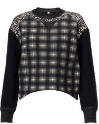 Antonio Marras Black Tartan Check Sweater