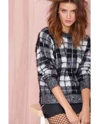 Nasty Gal Motel Check Me Out Sweater  Blackwhite