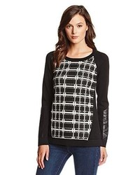 Nanette Lepore First Edition Plaid Pullover Sweater