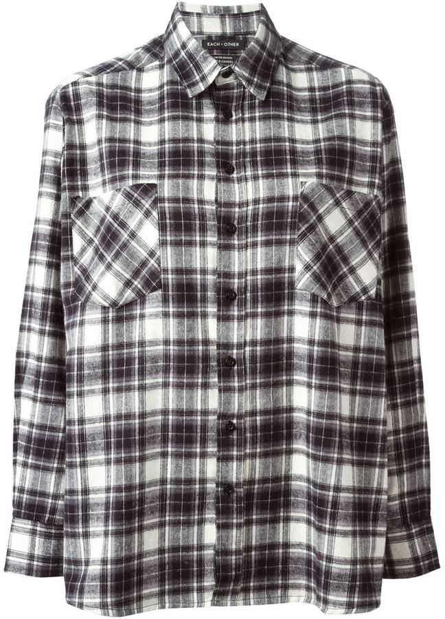 Black And White Plaid Dress Shirt Each X Other Life Is
