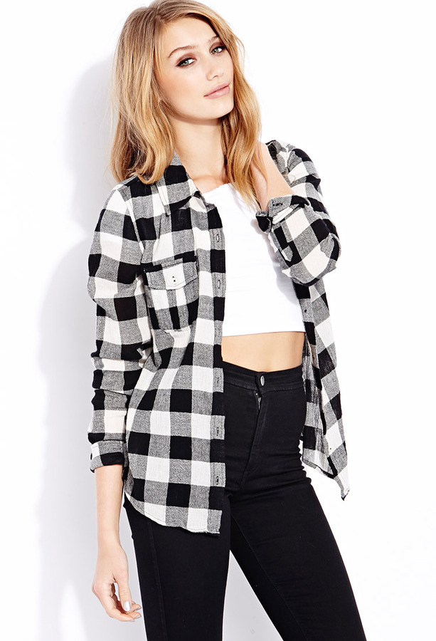Find black and white plaid shirt women at ShopStyle. Shop the latest collection of black and white plaid shirt women from the most popular stores -.