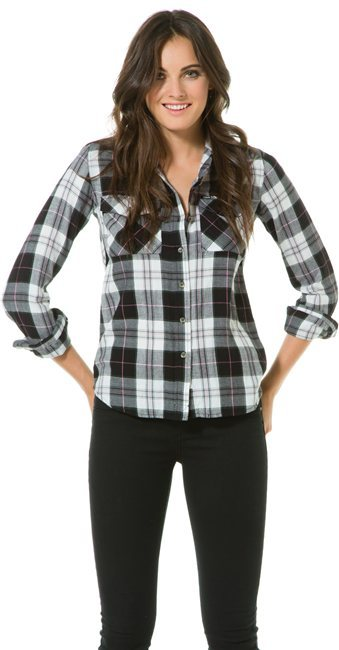 hurley girls wilson hooded ls plaid button up where to buy how