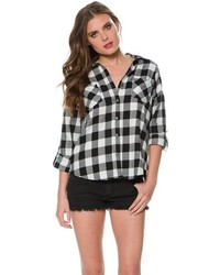 Swell Gwen Zip Back Plaid Shirt