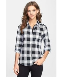 Foxcroft Modern Fit Buffalo Plaid Shirt