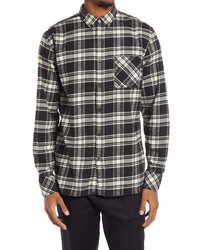 Zanerobe Relaxed Fit Plaid Flannel Shirt