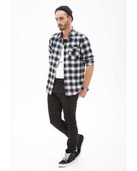 Blurred plaid flannel shirt medium 117158