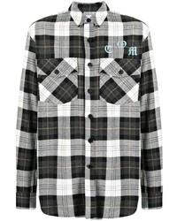 Marcelo Burlon County of Milan Checked Cotton Shirt
