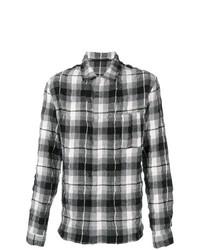 Creased effect plaid shirt medium 7513822