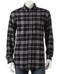 Croft Barrow Plaid Flannel Button Down Shirt