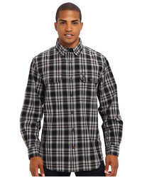 Fort plaid long sleeve shirt medium 117172