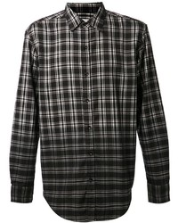 Shades of Grey Ombre Plaid Shirt