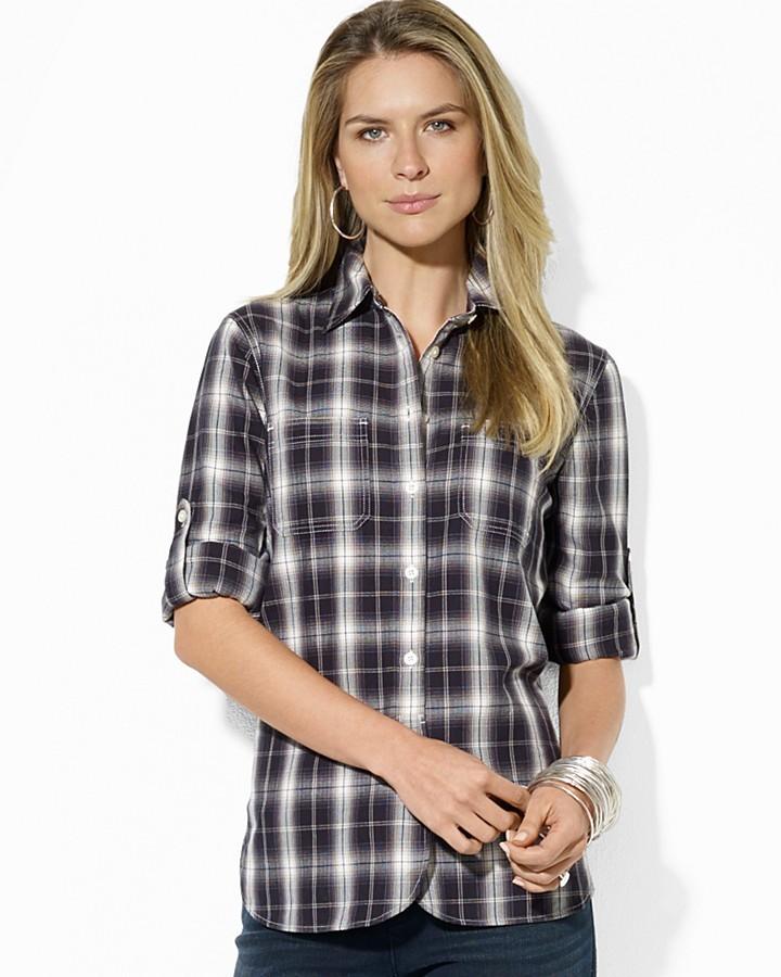 Lauren Ralph Lauren Two Pocket Plaid Shirt