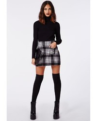 A Line Plaid Skirt - Dress Ala