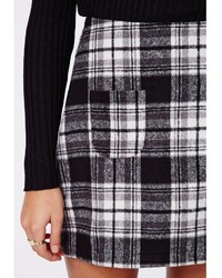 Missguided Mindie Check A Line Skirt Black | Where to buy & how to ...