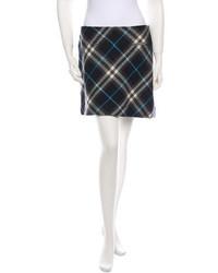Burberry Plaid Wool Skirt
