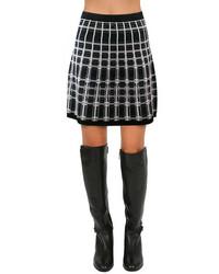 Nanette Lepore Series Skirt In Blackwhite