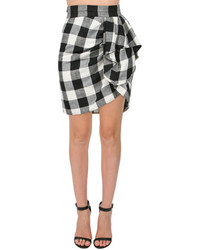 Whit Sarong Skirt In Blackwhite Check