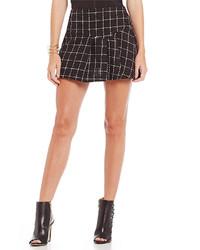 BCBGeneration Woven Plaid Mini Skirt