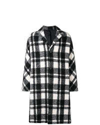 Black and White Plaid Overcoat