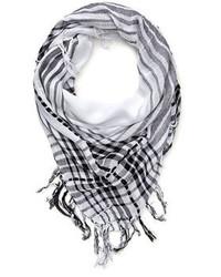 Plaid fringe scarf medium 77586