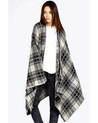 Boohoo Lisa Check Cape