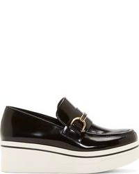Black and white platform loafers original 10003656