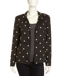 Pjk ricci polka dot open blazer blackwhite medium 184841