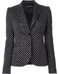 Dolce & Gabbana Polka Dot Embroidered Blazer
