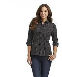 Covington dress shirt polka dot medium 52503